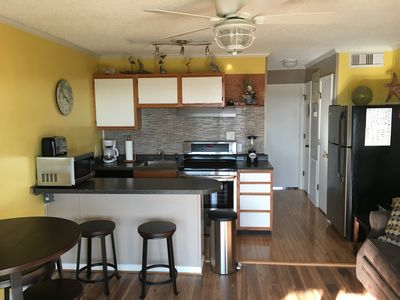 Newly updated kitchen with stainless appliances