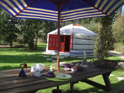 Photo for yurt with pool and massage