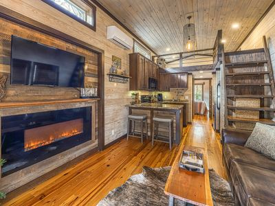 Photo for Beautiful, tiny home w/private hot tub, fireplace, & firepit - close to downtown