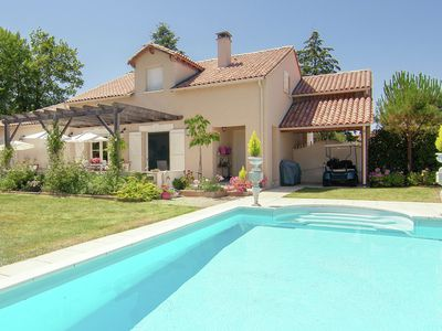 Photo for Luxury villa with heated pool on golf with lots of privacy and panoramic views.