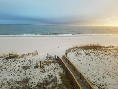 Photo for Island Sunrise updated BEACH FRONT Gulf Shores  Walk to Hang Out