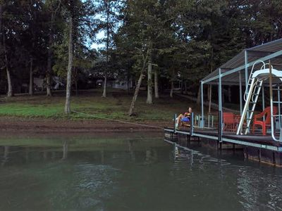 Photo for BOOK FALL & 2021!  BOAT FISH GOLF! 4+BR,Private Dock,WIFI, Gradual Slope,FirePit