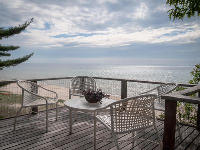 Photo for Stunning Lake Michigan Beachfront Home with Private Beach