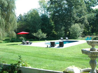 Photo for Luxury Farmhouse on 10 Acres with Pool, Hot Tub and Modern Amenities
