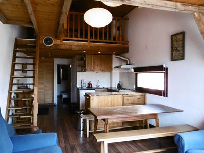 Photo for Apartment for 8 persons with mezzanine and balcony facing south in Val Thorens