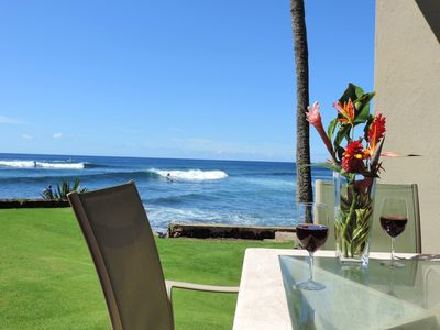 Photo for Kuhio Shores 119 - Two Bedroom Condo with White Water Ocean Views with A/C