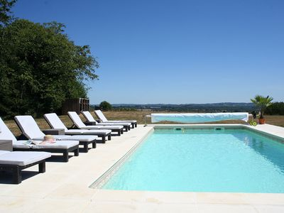 Photo for Beautifully appointed Farmhouse sleeps 8 with pool and far reaching views