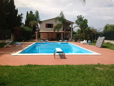 Photo for Terrasini villa with pool near the sea