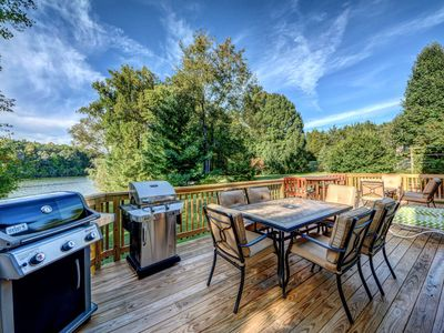 Photo for NEW LISTING! Dog-friendly waterfront home w/gourmet kitchen, dock & firepit