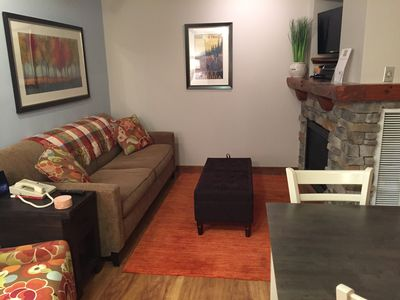 Photo for Updated unit with slope access.  Hot tubs, fireplace, ethernet, gym. FOR SALE