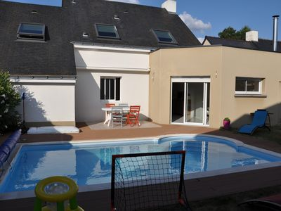 Photo for House 140 m2, Private Pool, NANTES- city center, not overlooked.