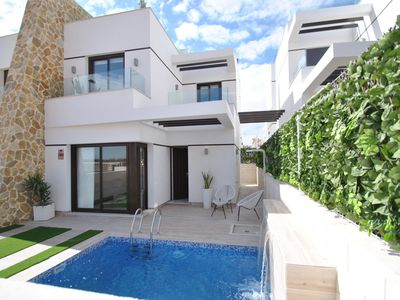 Photo for Orihuela Costa new modern villa 2 bdrms, 2bath, private pool, air conditioned