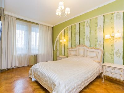 Photo for Great Location 2 rooms studio. 2 min from metro Druzhby narodiv. Nice view