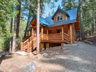 Photo for LUXURY IN THE MOUNTAINS -  AMAZING NEW LOG CABIN NEAR LASSEN PARK