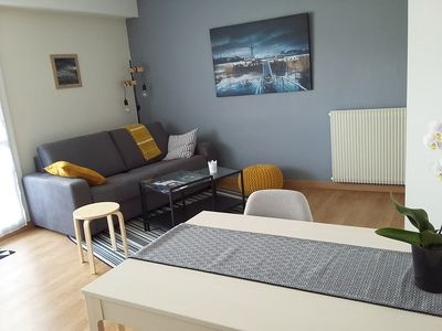 Photo for Nant'Sud Loire -NANTES -57m² nine-2 bedrooms + sofa -10mn Airport & 12mn center