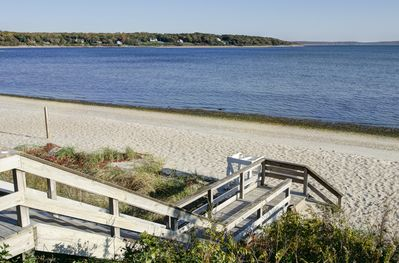 Pequash beach is 5 minutes from the Wine Country Cottage