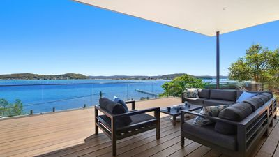 Photo for Spectacular waterfront home overlooking Hardys Bay