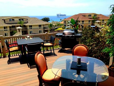 Our lanai, a place to chill out, BBQ and enjoy the Hawaiian life-style...
