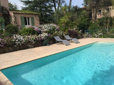 Photo for St Raphaël Old Valescure provencal villa 5 bedrooms with secured pool