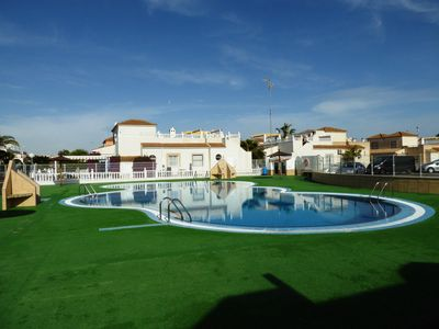 Photo for Meters from pool, WI-FI Villa sleeps 6, family location close to amenities.