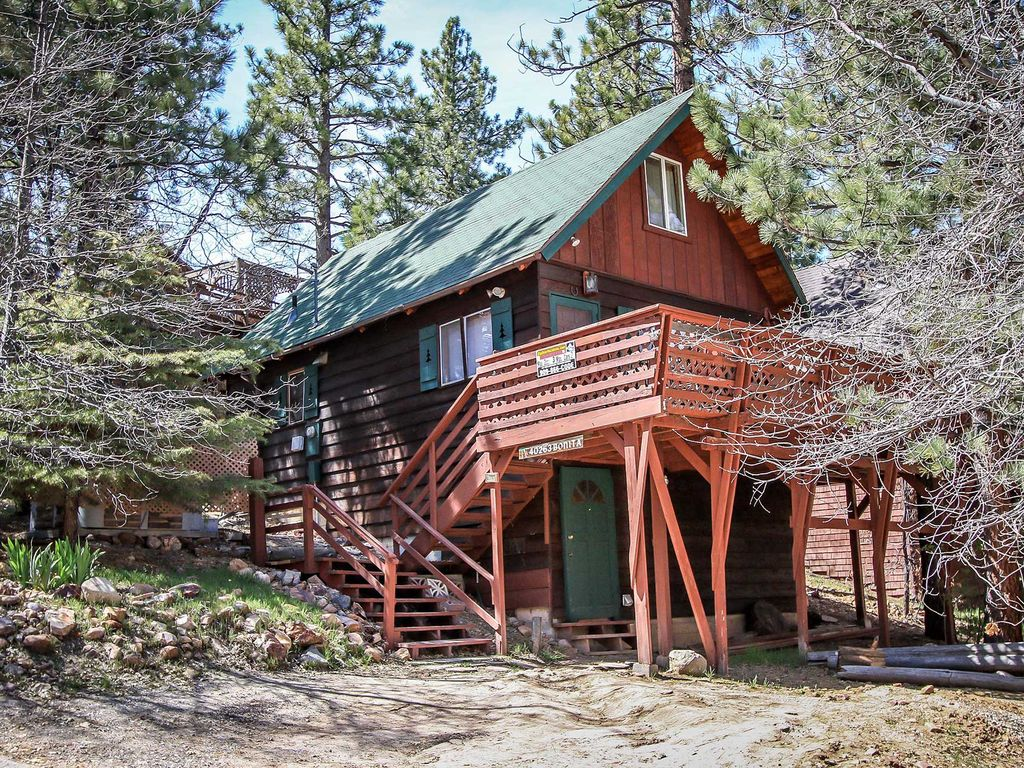 Bonita cabin 2 bedrooom furnished home big bear and for Big bear 2 person cabin