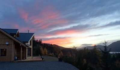 Photo for Stunning luxury Finnish log house with panoramic views over Loch Ness.