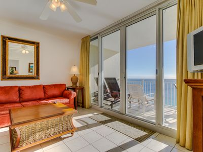 Photo for Waterfront w/ views, shared pools/hot tub/gym - walk to beach, snowbirds welcome