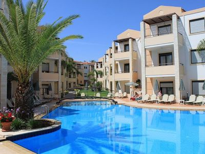 Photo for One bedroom Apartment, sleeps 3 in Kato Stalos with Pool, Air Con and WiFi