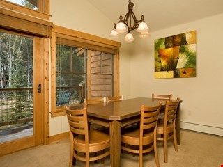 Enjoy meals together at the dining table.