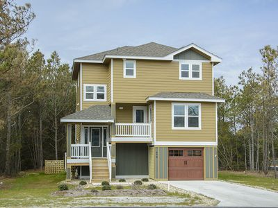 Photo for Good To Be Back: Soundside with a private pool and hot tub and great community amenities.