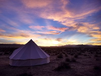 Photo for Joshua Tree Glamping Yurt - Dirtbag Z - Camping in Style!