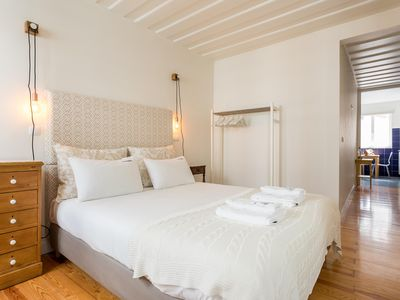 Photo for Spacious Bairro Alto Central apartment in Bairro Alto with WiFi.