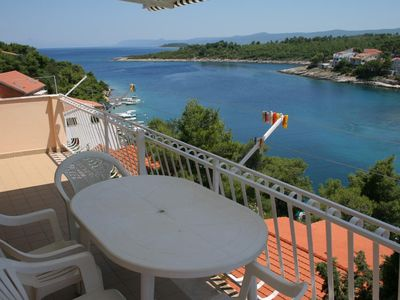 Photo for Three bedroom apartment with terrace and sea view Basina (Hvar)