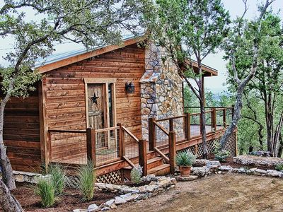 Photo for Romantic Luxury Cabin! Has it all Hot tub, Fireplace, Gorgeous Views!!!