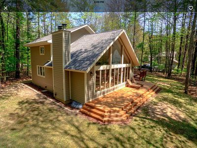 Photo for Relax in the woods. Golfers Paradise! Free Wifi. Sleeps 6