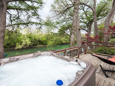 Photo for Reel Simple- Guadalupe Riverfront with hot tub, come and relax!