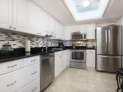 Photo for GORGEOUS, REMODELED ISLAND WINDS UNIT WITH BEACH VIEWS! Click for reviews! FREE WIFI, CENTRAL AIR, ONSITE PARKING, FULL-SIZED WASHER AND DRYER IN UNIT