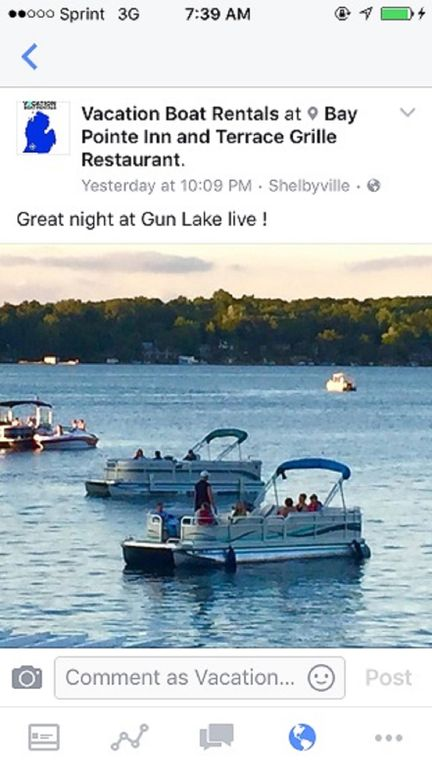 Weekly pontoon rental del and pick up to your VBRO cottage servicing SW  Mich - Shelbyville