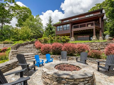 Photo for *NEW LISTING!* Copper Shanty - Banner Elk Luxury Log Home! Hot tub, pool table, firepit!