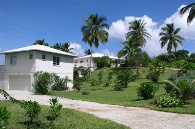 The lush landscaping of Conch'd Out's secluded 2 acres.