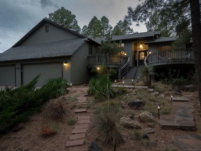 Photo for Appealing Country Club Cabin w/ ALL the Bells & Whistles, Sleeps 12  - Equipped with NEW A/C System!