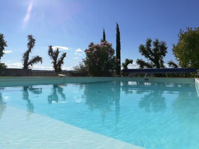 Photo for Not overlooked. Ideal 1-2 families. Summer kitchen. Swimming pool. Land 3600 m2