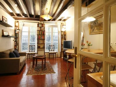View as you enter the apartment -- welcome to your home in Paris!