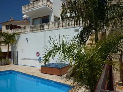 Photo for 3 Bed Luxuary villa Peyia South Cyprus Panoramic views Private pool and Jacuzzi