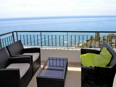 Photo for Near NERJA Playa Peñoncillo Apt high standing MAGNIFICENT SEA VIEW TORROX COSTA