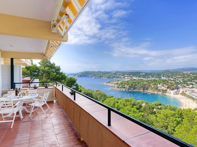 Photo for TORROMOSA - apartment with sea view and pool -Llafranc-Costa Brava