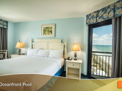 Photo for Perfect Family Beach Getaway. Oceanfront Pool and Water Slide. On-Site Dining.