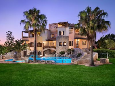 Photo for Villa Natali for Large Groups, 300m from Beach & Amenities! 16km to Chania