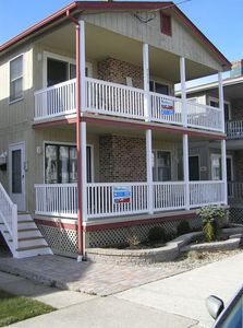 Step off the porch and walk 2 short blocks to Ocean City's finest beaches