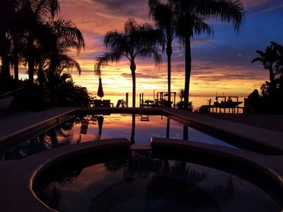 Another beautiful sunset with heated pool and hot tub!